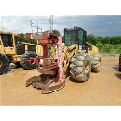 2003 533 FELLER BUNCHER, S/N CDR00193  CAT HF 222 SAW HEAD, CAB, A/T, 28L-26 TIRES, METER READING 5,