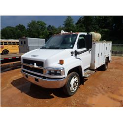 2006 CHEVROLET C5500 MECHANICS TRUCK- - DURAMAX DIESEL ENGINE, A/T, MAINTAINER SERVICE BODY, AIR TAN
