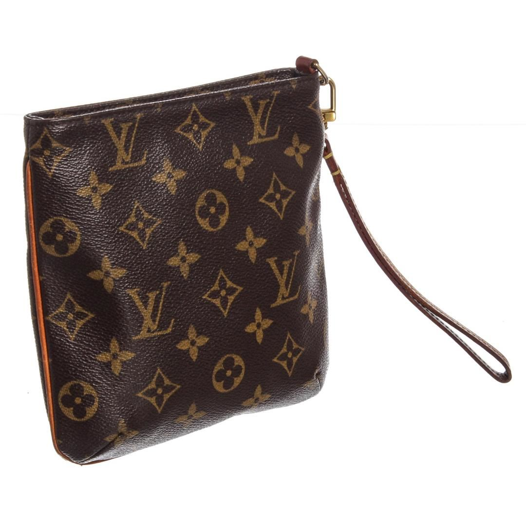 86c09ccf010d Louis Vuitton Monogram Canvas Leather Partition Wristlet Bag