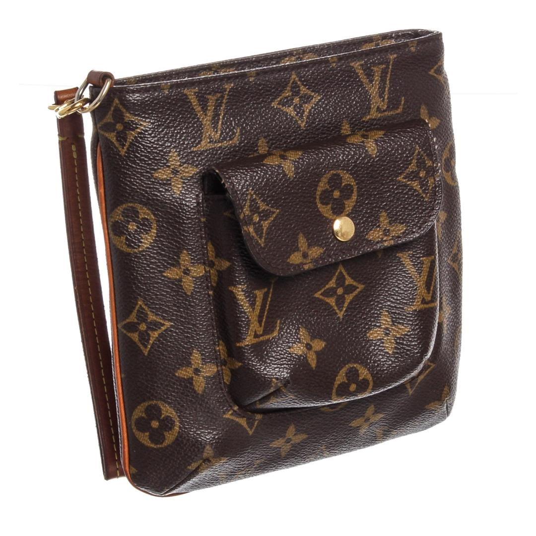 04722405b8c6 ... Image 3   Louis Vuitton Monogram Canvas Leather Partition Wristlet Bag  ...