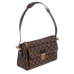 d6605cb44c58 Louis Vuitton Damier Ebene Canvas Leather Ravello GM Bag
