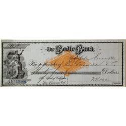 Blue Bodie Bank 1880 Check  (99503)