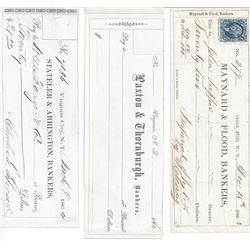 3 Territorial Comstock Checks  (99579)