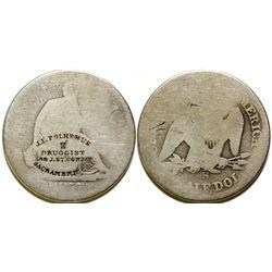 J.L. Polhemus Counterstamped Half Dollar  (90370)