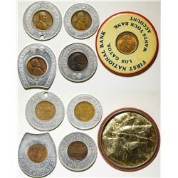 Five Encased Pennies  (91143)