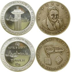 Wilbur Clark / Landmark Tower Silver Rounds  (89252)