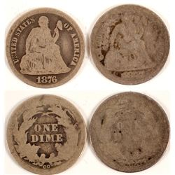 1876 CC and 1877 Dimes  (89830)