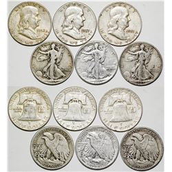 Six Silver Half Dollars  (87270)