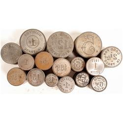 Various Denomination Token Dies (16)  (100095)