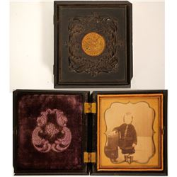 Gold Rush Daguerreotype in Coin Case  (100014)