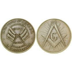 Denver 1913 Masonic Silver Medal  (100328)