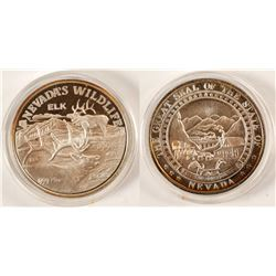 Nevada Wildlife Silver Medal  (90703)
