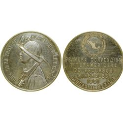 Mexican Silver Mining Medal  (100343)
