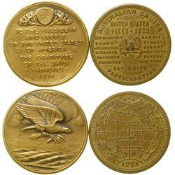 Australian Cruise U.S. Navy/WWI Swiss Medals  (89256)