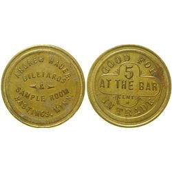 Andrew Hauer Billiards Sample Room Token  (100331)