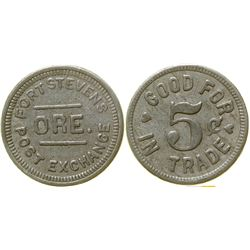 Fort Stevens Post Exchange Token  (100322)