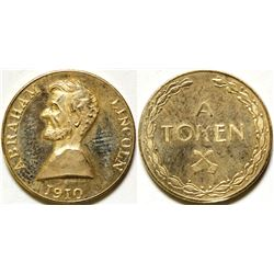 Abraham Lincoln Gold Token  (91137)