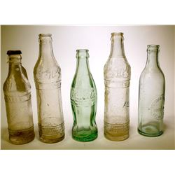 Soda Bottles / Los Angeles / 5 Items.  (89555)