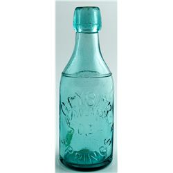 GEYSER SPRINGS SODA BOTTLE   (29696)