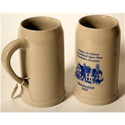 Beer Steins / German /  2 Items.  (89521)
