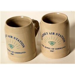 Beer Steins / Lindsey Air Station / 2 Items  (89514)