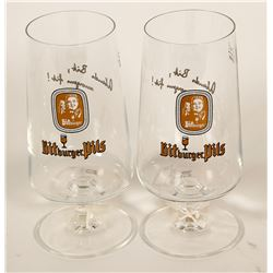 Beer Glasses / German / 2 Items.   (89531)