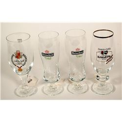 Beer Glasses / German / 4 Items.  (89530)