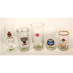 Beer Glasses / Germany / 5 Items.  (89534)