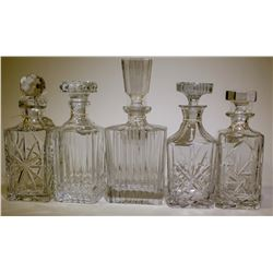 Drawing Room/  Liquor Decanters / 5 Items.  (89563)