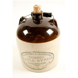 Williams Bros & Charbonneau Quebec Maple Syrup Jug  (89154)