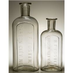 B. F. Foster, Carson City Drug Bottles ( 2 items).   (59209)
