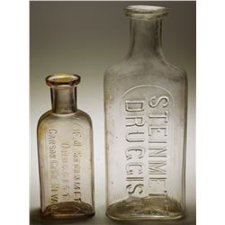 Steinmetz  Druggist  Bottles (2 items)  (59273)