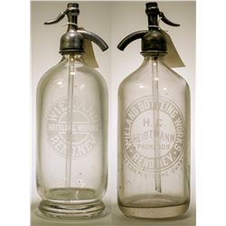 Seltzer Bottle Pair / Wieland Bottling Works / 2 Items .  (78876)