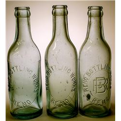 Soda Bottles / Reno Bottling Works / 3 Items.  (89545)