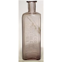 A. M. Cole Apothecary Bottle  (57731)