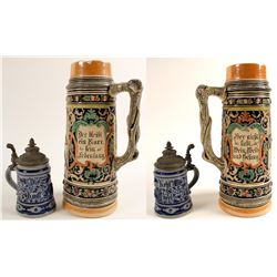 Beer Steins, Ornate  (2)  (59646)
