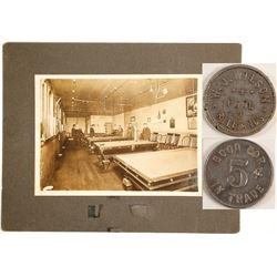 WJ Wilson Pool Room Photo and Token  (90307)