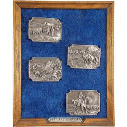 Charles M Russell Belt Buckles (4)  (89846)