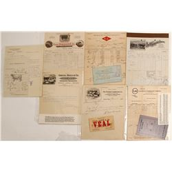 Livestock Merchants Ephemera  (89117)