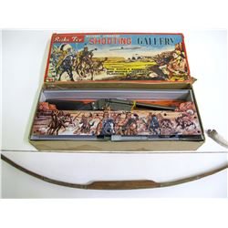 Vintage Cowboy/Indian shooting gallery toy  (88516)