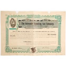 Ostrander Repeating Gun Company Stock  (90458)