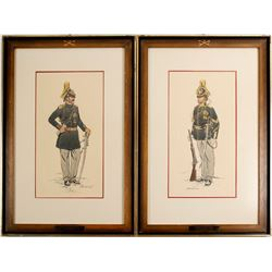2 Color 7th Cavalary Prints by George Woodbridge  (89137)