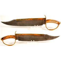 Colt 'D' Guard Damascus Fighting Knife  (75669)