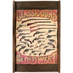 Old West Guns Display Board  (91400)
