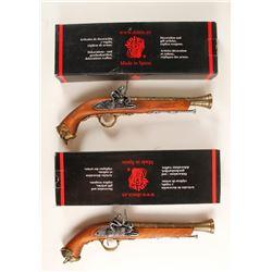 Pair of Denix Pirate Flintlock Pistols  (33453)