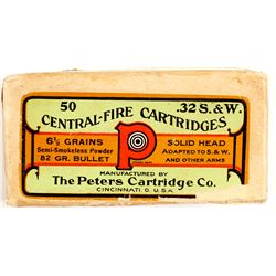 Turn of the Century Peters .32 S&W cartridges  (75654)