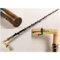 Sitka, AK Engraved Bone Handle Walking Cane  (89352)