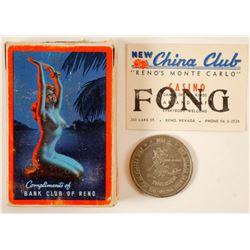 Old Reno Gaming: Bank Club Pinup Girl Playing Cards  (100336)