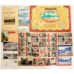 Alaskan stamps, photos, brochures  (91061)