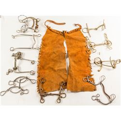 Collection of Horse Bits & 1 Pair of Child's Chaps  (59657)